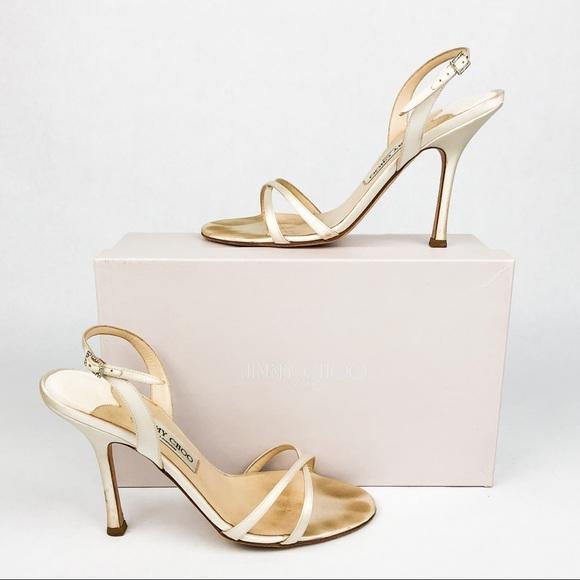 Jimmy Choo Shoes   My Satin Ivory Heels